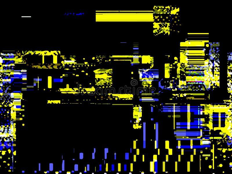Glitched bakgrund Fel för slumpmässig signal Abstrakt bakgrund av royaltyfri illustrationer