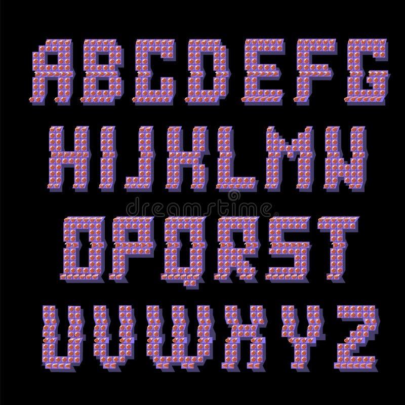 Glitched coloreó alfabeto libre illustration