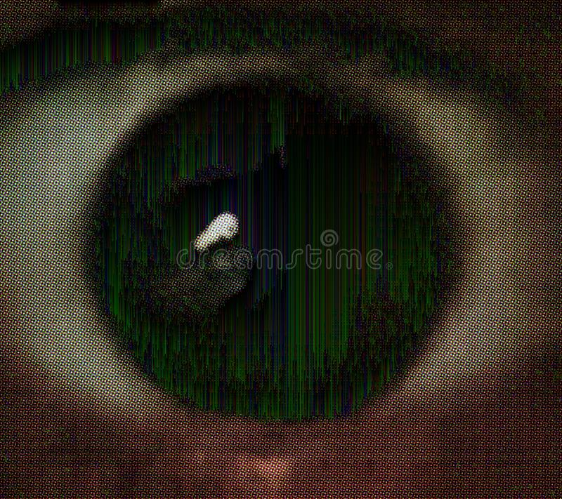 Glitched eye royalty free stock images