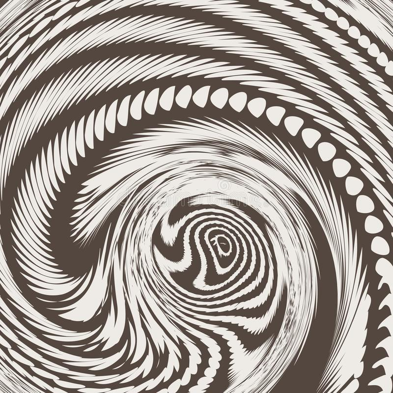 Glitched spiraalvormige structuur Moderne abstracte achtergrond vector illustratie