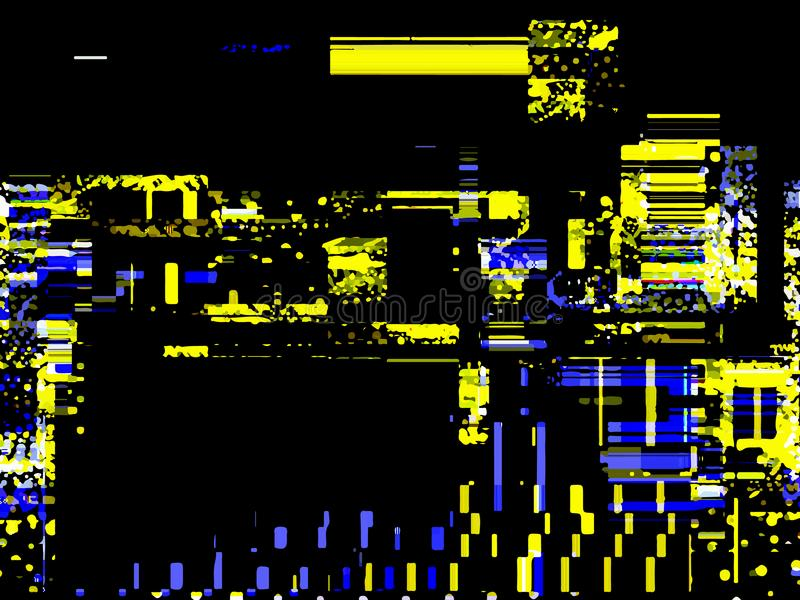 Glitchedachtergrond Willekeurige signaalfout Abstracte achtergrond van royalty-vrije illustratie