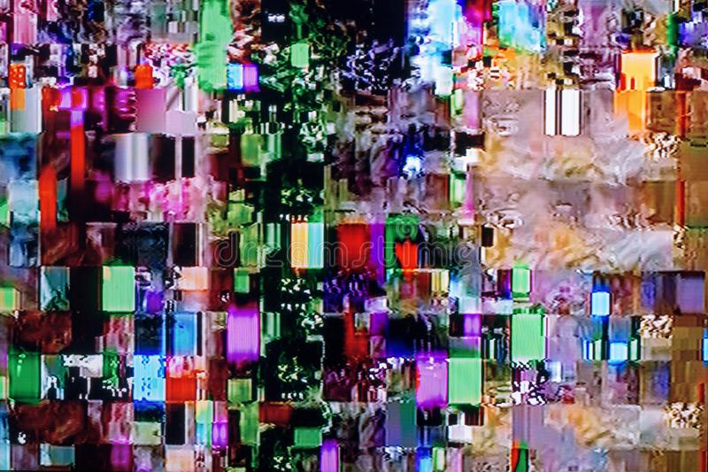 Glitches and interference on the digital TV royalty free stock images