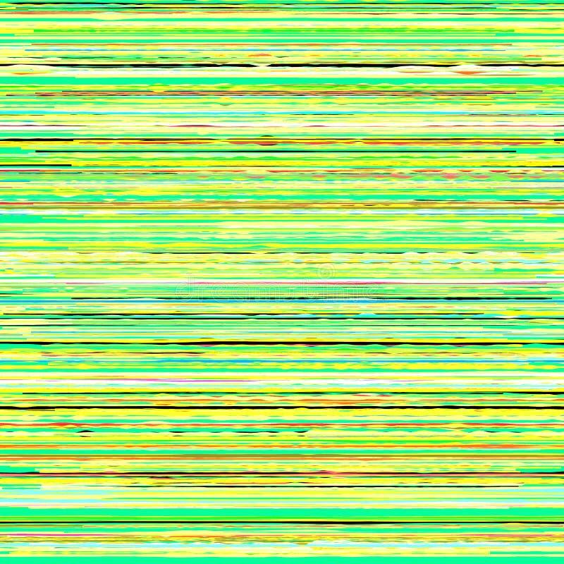 Glitchy rayó textura stock de ilustración