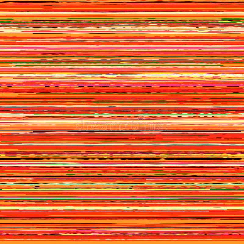 Glitchy rayó textura ilustración del vector