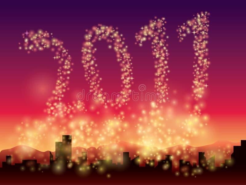 Glitter Background 2010 stock illustration