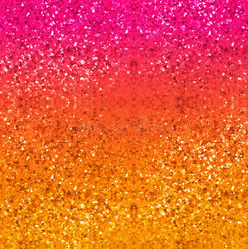 Glitter background in gold, red, pink and yellow. Abstract digital art textured backdrop. stock illustration