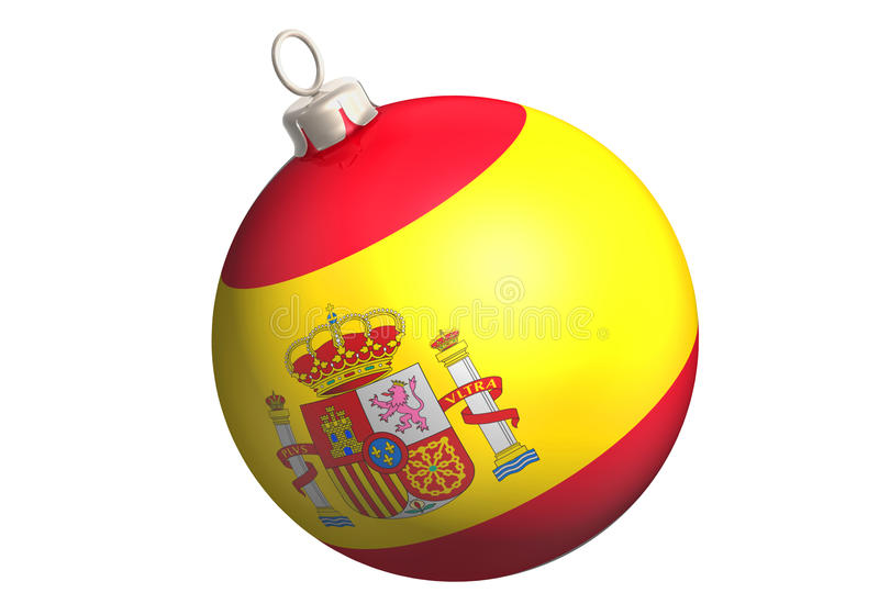 Download Glitter ball spain flag stock illustration. Image of tree - 10689343