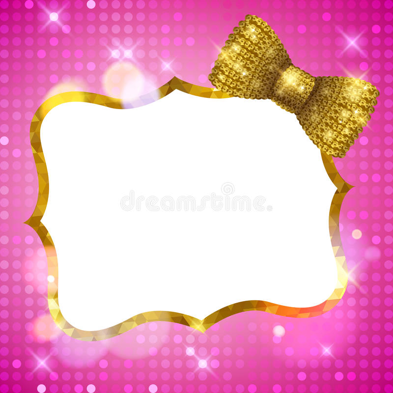Glitter Glamour Shine Background Frame With Mosaic Stock Vector ...