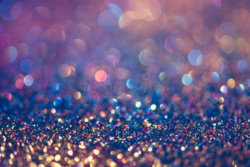 glitter gold bokeh Colorfull Blurred abstract background for birthday, anniversary, wedding, new year eve or Christmas royalty free stock image