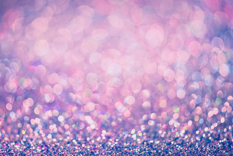 Glitter gold bokeh Colorfull Blurred abstract background for birthday, anniversary, wedding, new year eve or Christmas.  royalty free stock photo