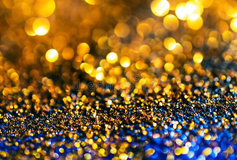 glitter gold lights grunge background, glitter defocused abstract Twinkly Lights Stars Christmas light Background.. stock photos