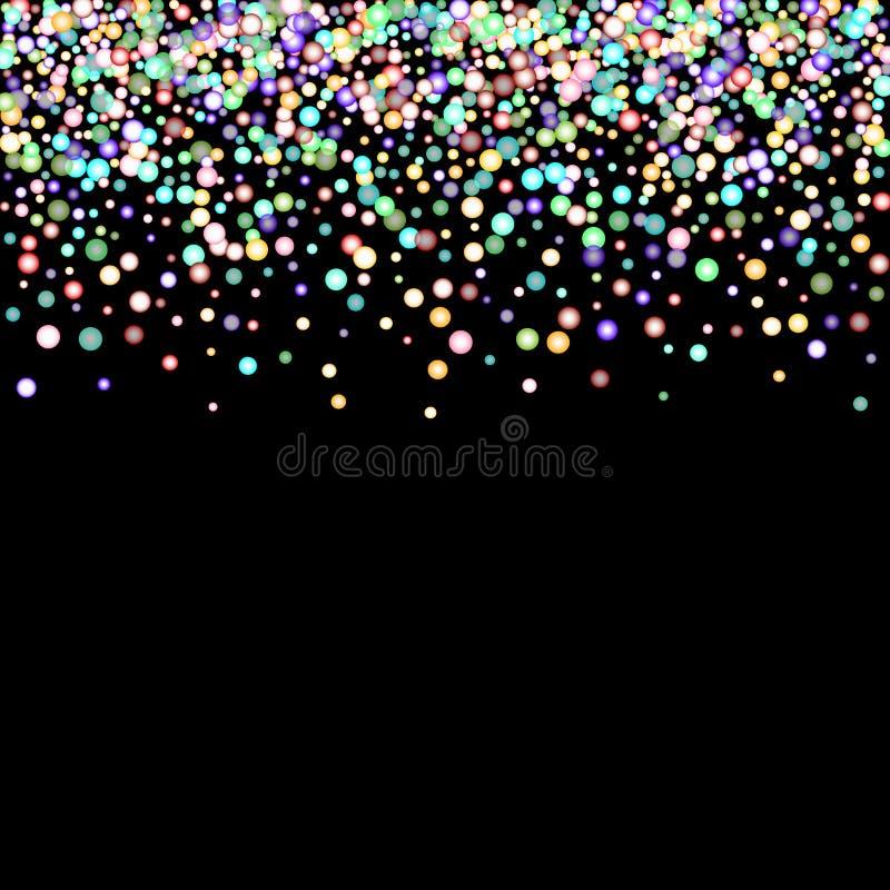 Glitter iridescent rainbow royalty free illustration