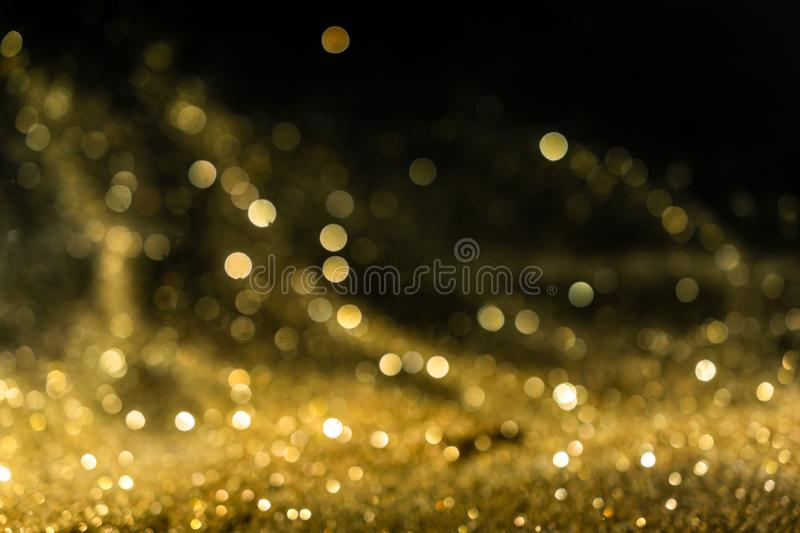 Glitter lights grunge background, gold glitter defocused abstract Twinkly Lights Background. royalty free stock photos