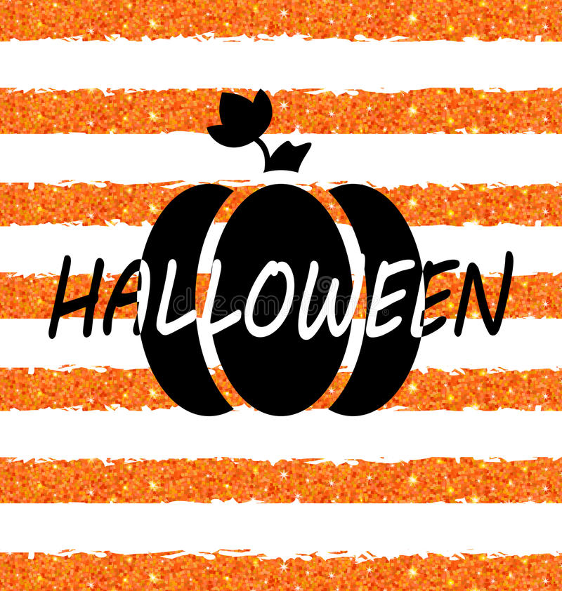 Download Glitter Orange Wallpaper For Happy Halloween With Pumpkin Stock  Vector   Illustration Of Background,
