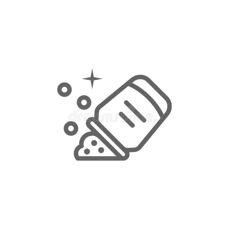 Glitter outline icon. Elements of Beauty and Cosmetics illustration icon. Signs and symbols can be used for web, logo, mobile app royalty free illustration