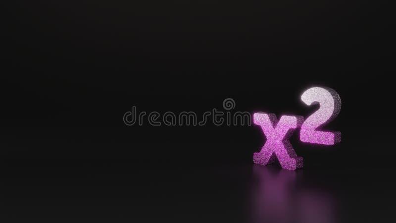 science glitter symbol of superscript icon 3D rendering vector illustration