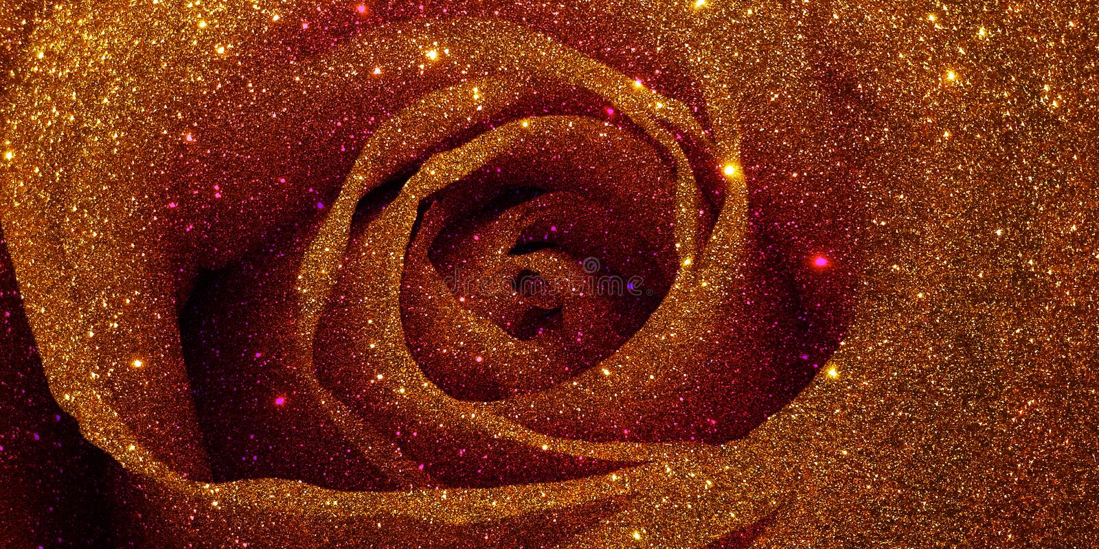 Glitter rose textured background royalty free stock images