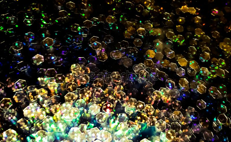 Glitter sequin coloful luxury background stock photos
