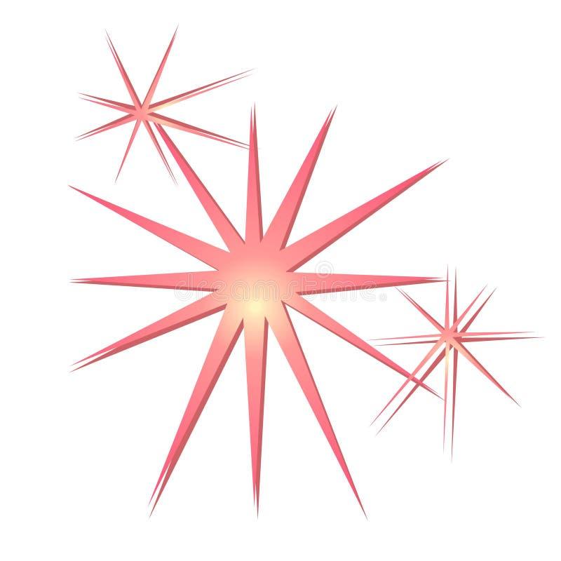 Glitter Sparkles Stars Pink Stock Illustration ...
