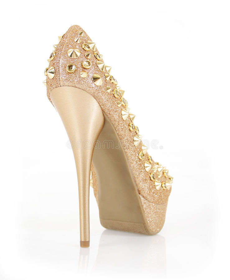 Glitter Spiked Gold Heel Stock Photography - Image: 23488292