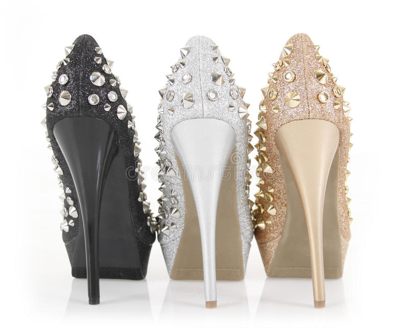 Download Glitter spiked heels stock photo. Image of beauty, beautiful - 23488188