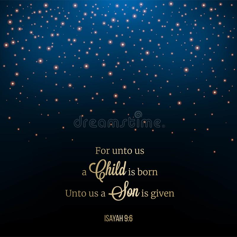 Glitter star or snow drop night scene, Christmas theme for use a stock illustration