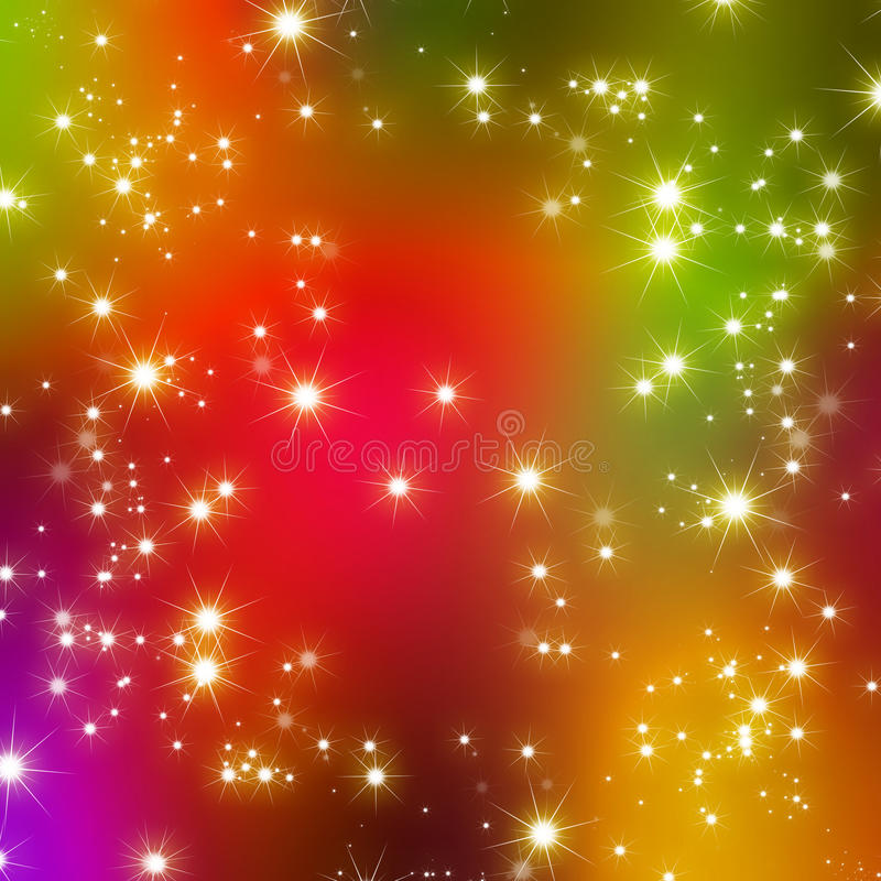 Glitter stars abstract background royalty free illustration