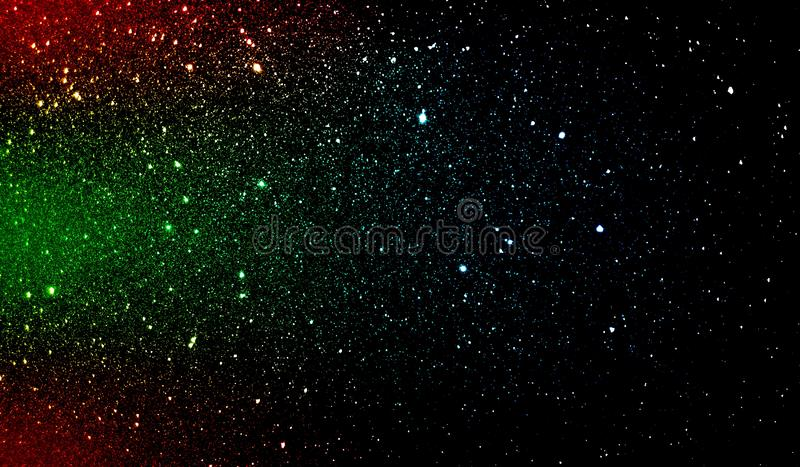 Glitter textured red green blue and black shaded background wallpaper. royalty free stock image