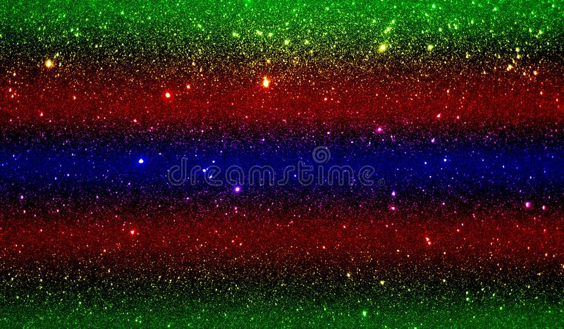 Glitter textured red yellow blue and black shaded background wallpaper. royalty free stock photo