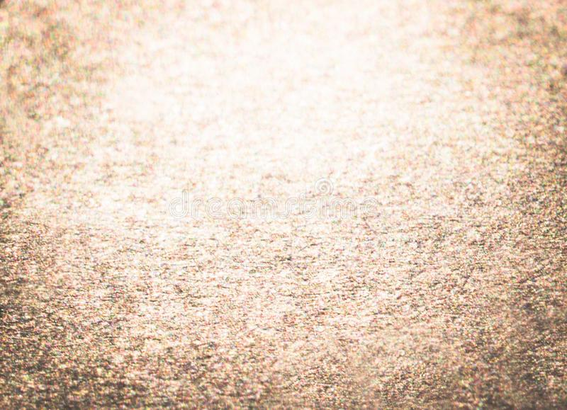 Glitter vintage lights background. abstract gold background . defocused. Black, glow. royalty free stock photography
