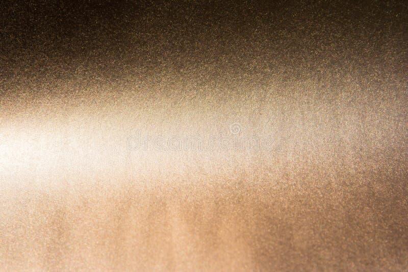 Glitter vintage lights background. dark brown gold and black stock photo
