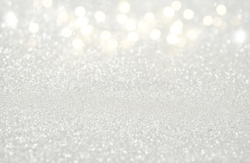 glitter vintage white lights background. de-focused. royalty free stock photos