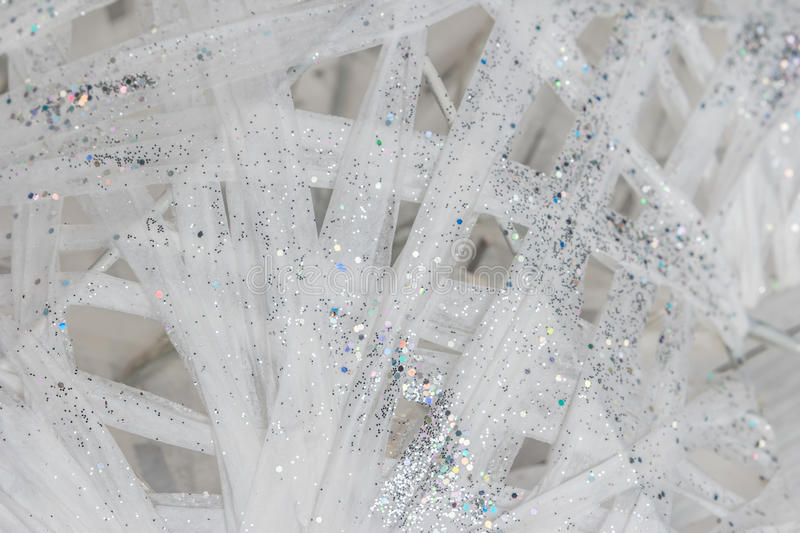 Glitter white and silver background. Abstract background stock image