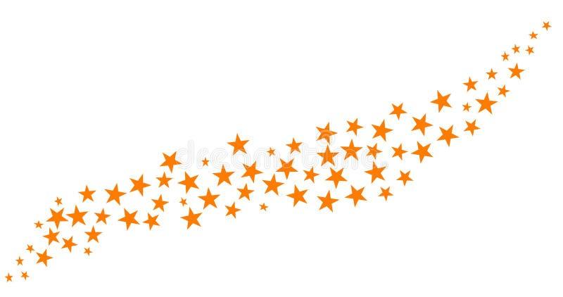 Glitter of yellow stars. Yellow isolated christmas stars background stock illustration