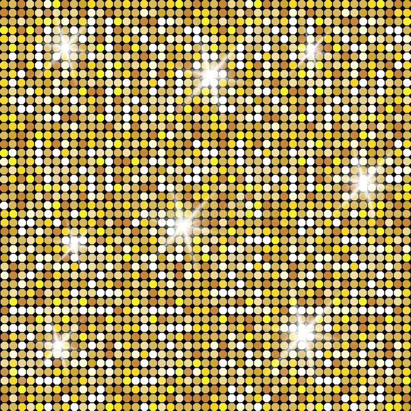 Glittering Gold Texture for your design. Stone plate paving pattern. Geometric Seamless vector pattern stock illustration