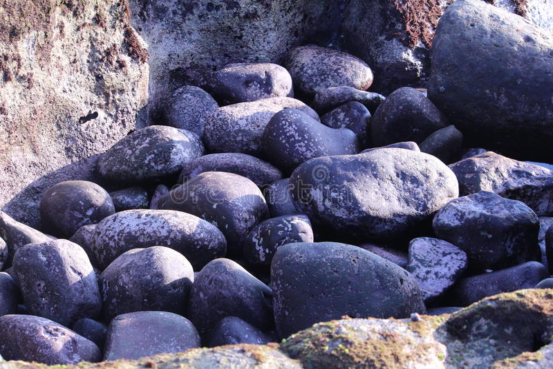 Glittering Ocean Rocks stock image
