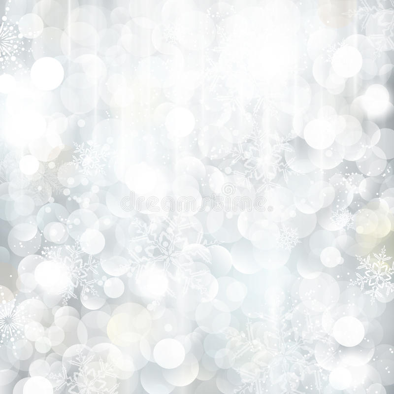 Free Glittering Silver Christmas Background Royalty Free Stock Image - 27498266