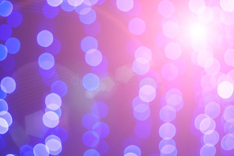 Glittering stars on bokeh with a highlight. Christmas background royalty free stock photos