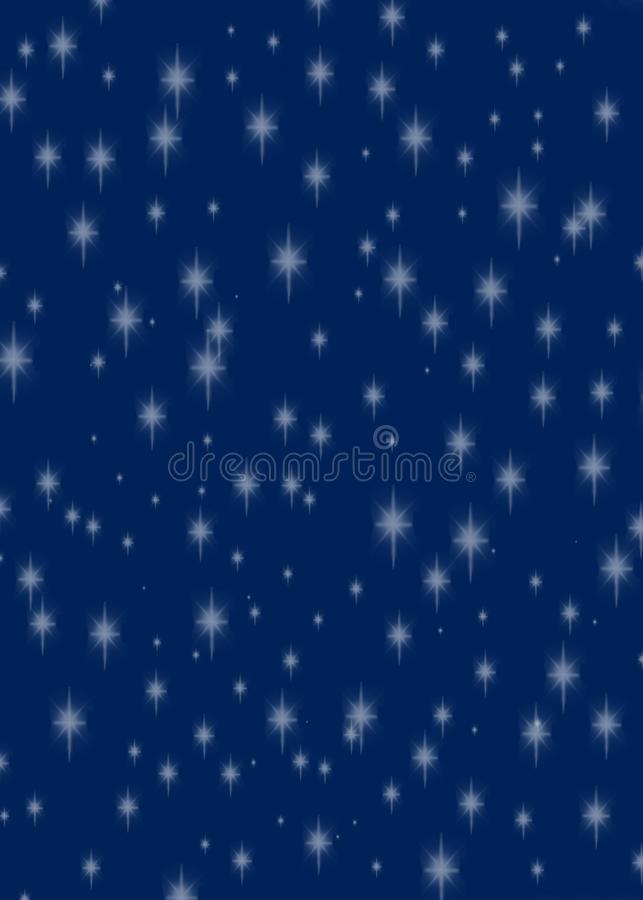 Glittering stars on a dark rich blue background stock photos