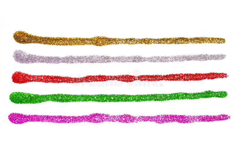 Glitters strokes set royalty free stock image