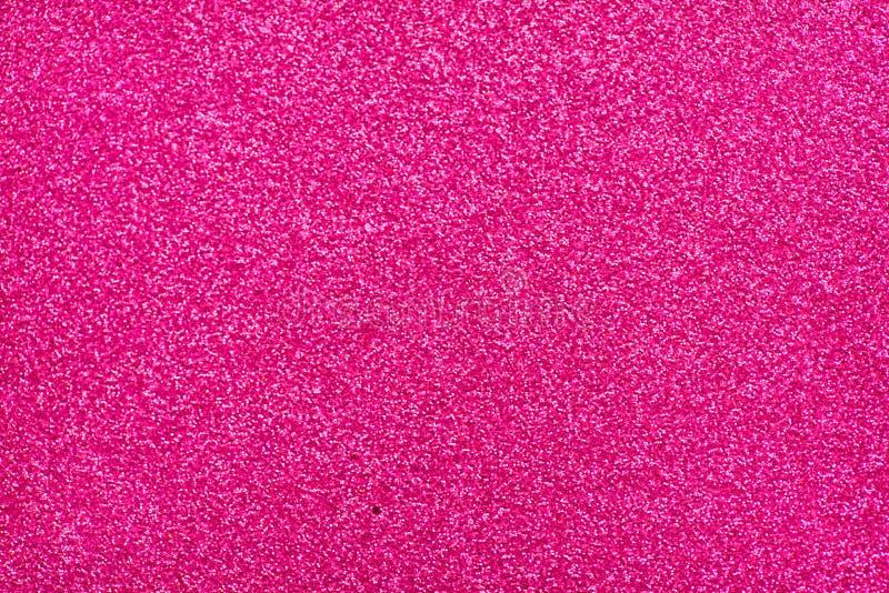Glittery Beschaffenheit Rosa Funkelnpapier vektor abbildung