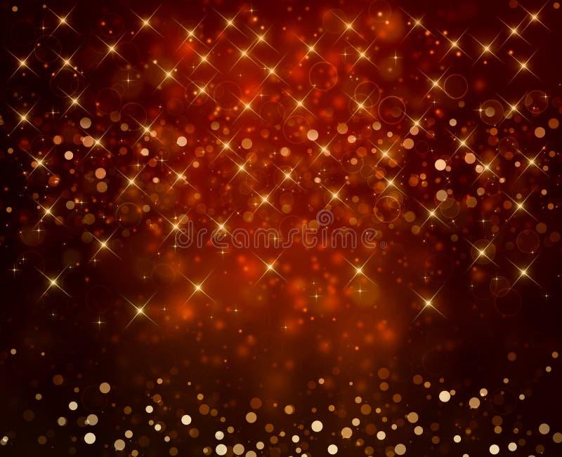 Glittery festive background. Glittery golden festive background with stars stock illustration