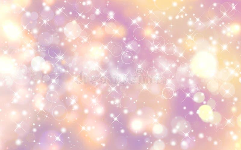 Glittery festive background. With stars stock photo