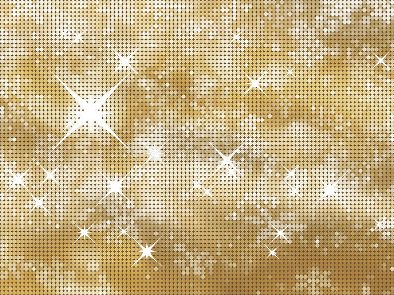 Glittery gold background. Glittery gold Christmas background in halftone dots royalty free illustration