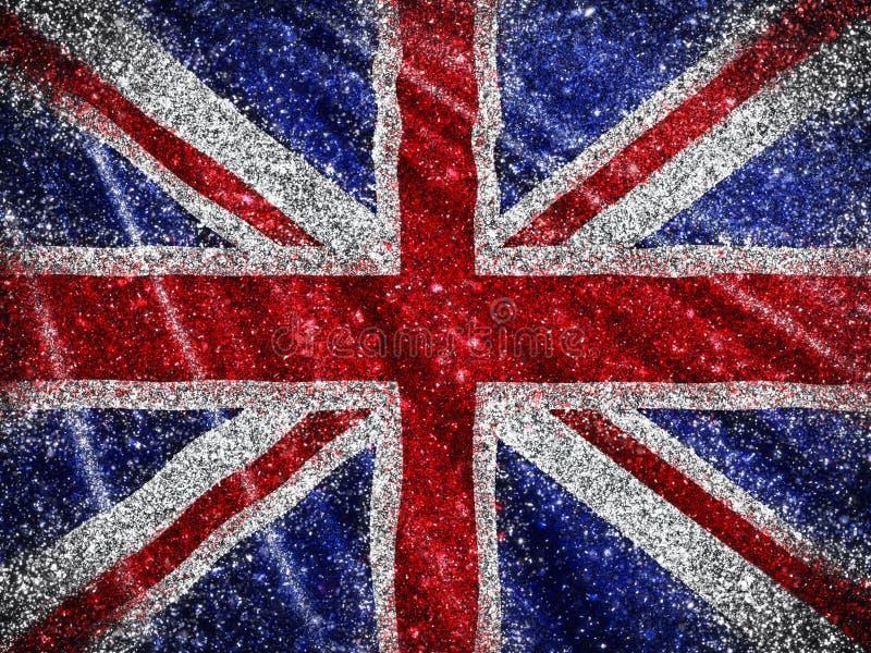Glittery Union Jack Flag background. Union Jack Flag background with a glittery effect vector illustration