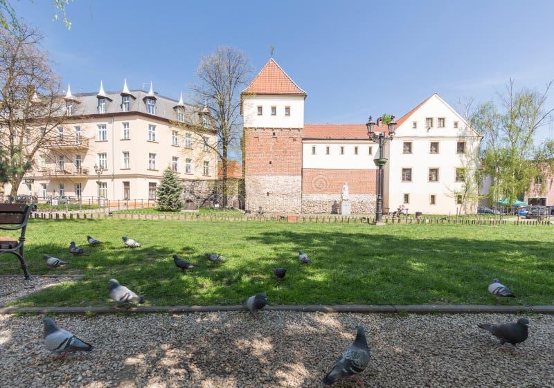 Gliwice/arquitectura chistorical en el centro de ciudad imagenes de archivo