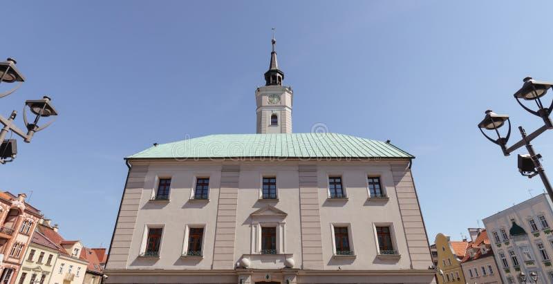 Gliwice/plaza principal y ayuntamiento imagen de archivo
