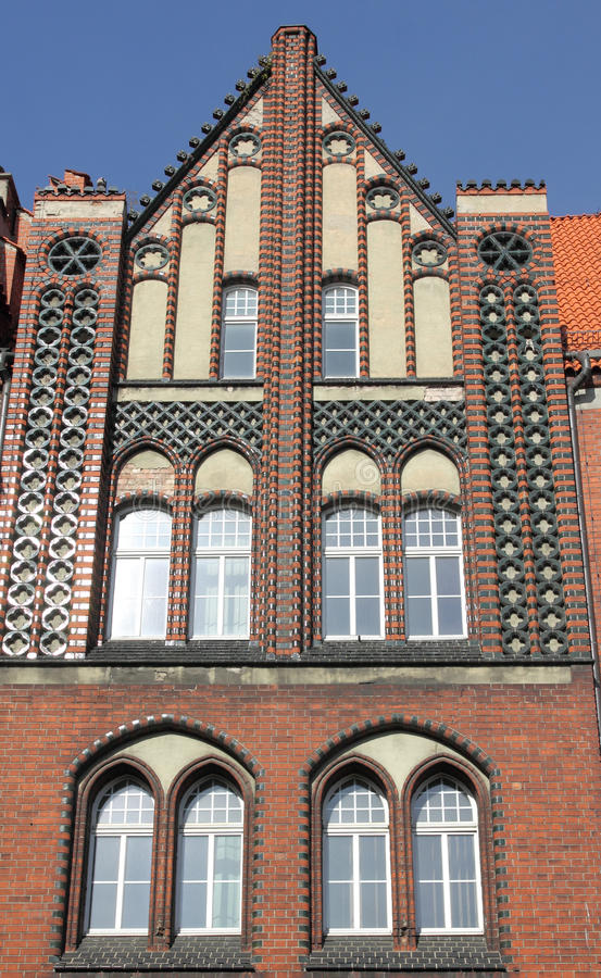 Gliwice, Poland. Historic post office building in Gliwice, Poland royalty free stock photos