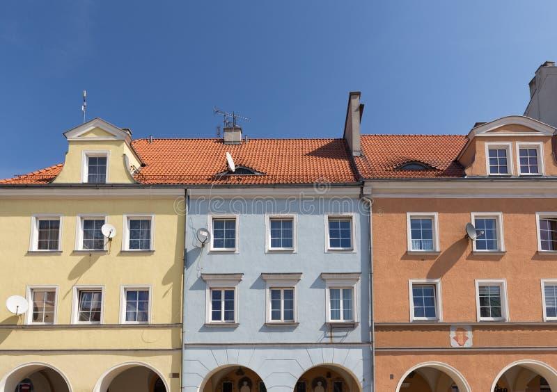 Gliwice/viviendas históricas en la ciudad vieja fotografía de archivo
