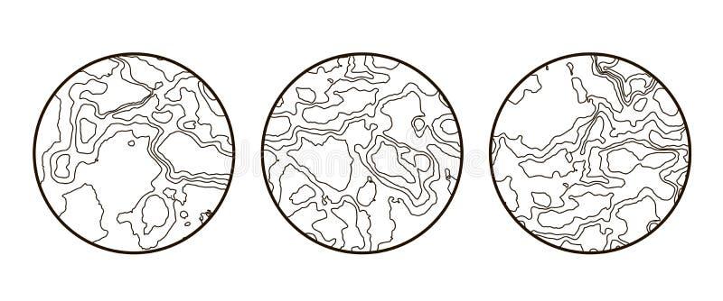 Globaal Aarde vectorpictogram op wit royalty-vrije illustratie